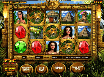 онлайн аппарат Aztec Treasures 3D 2